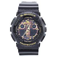 Спортивные наручные часы Casio G-Shock GA-100CE- циферблат цвета хаки - AAA копия, полный комплект