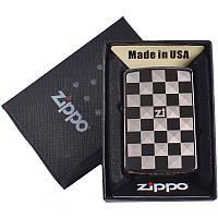 Зажигалка бензиновая zippo (копия) в подарочной упаковке 4729-6 (реплика) so