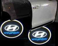 Подсветка дверей автомобиля, проекция логотипа Hyundai