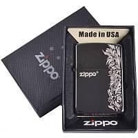 Зажигалка бензиновая Zippo в подарочной упаковке 4729-8 SO