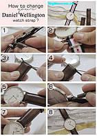 Як поміняти ремінець на годиннику Daniel Wellington