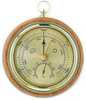 Барометр TFA с термометром, бук, 120 мм, d=105 мм