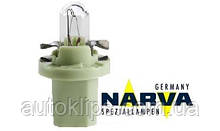 Лампа с патроном 12V 2W  цоколь- BX8,5d щиток приборов NARVA 17052
