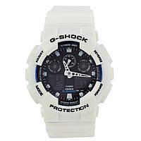 Спортивные наручные часы Casio G-Shock GA-100B-7AER белого цвета - AAA копия, полный комплект, фото 1