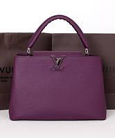 Женская сумкав стиле  LOUIS VUITTON CAPUCINES VIOLET (4030), фото 1