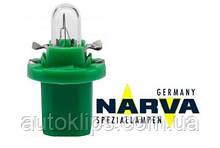 Лампа с патроном 12V 2W цоколь- B8,5d щиток приборов NARVA 17057