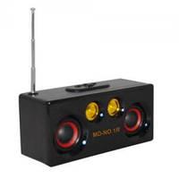 Портативная колонка с fm радио MD NO.1R, MP3/MP5, деревянный корпус, 140х50х78 мм