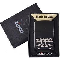 Зажигалка бензиновая Zippo в подарочной упаковке 4732-3 (реплика) SO