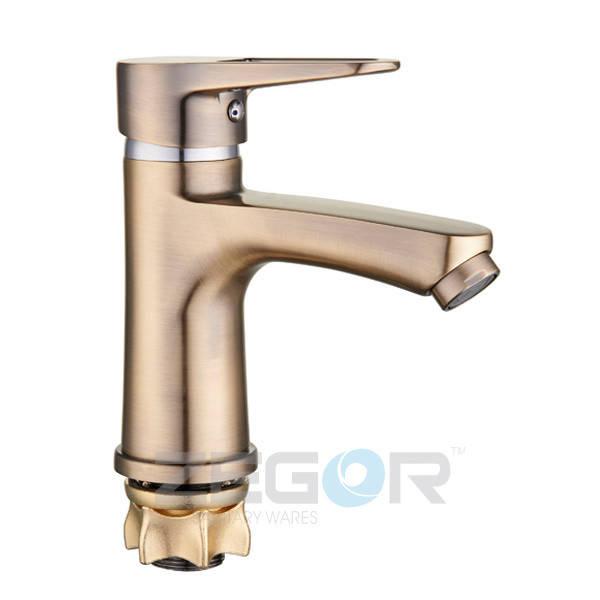 Cмеситель Zegor PUD1-A045-T для умывальника однорычажный ванный кран (цвет бронза)