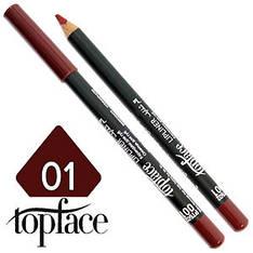 TopFace - Карандаш для губ дерево PT-602 Тон №01 vino, матовый