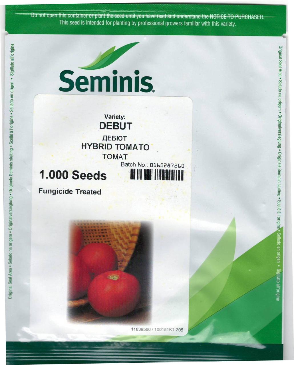 ДЕБЮТ F1 / DEBUT F1 - томат, Seminis 1000 cемян