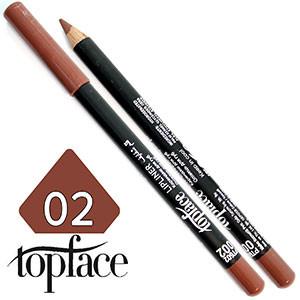 TopFace - Карандаш для губ дерево PT-602 Тон №02 natural, матовый