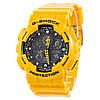 Спортивные наручные часы Casio G-Shock GA-100A-9AER желтого цвета - AAA копия, полный комплект