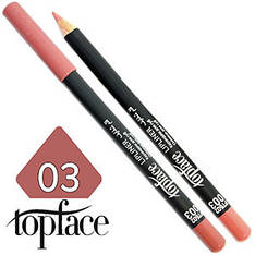 TopFace - Карандаш для губ дерево PT-602 Тон №03 peach, матовый