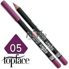 TopFace - Карандаш для губ дерево PT-602 Тон №05 royal violet, матовый, фото 3