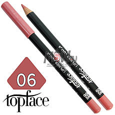 TopFace - Карандаш для губ дерево PT-602 Тон №06 pink nature, матовый, фото 3