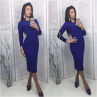 Платье женское с латками синие UD11/-1105