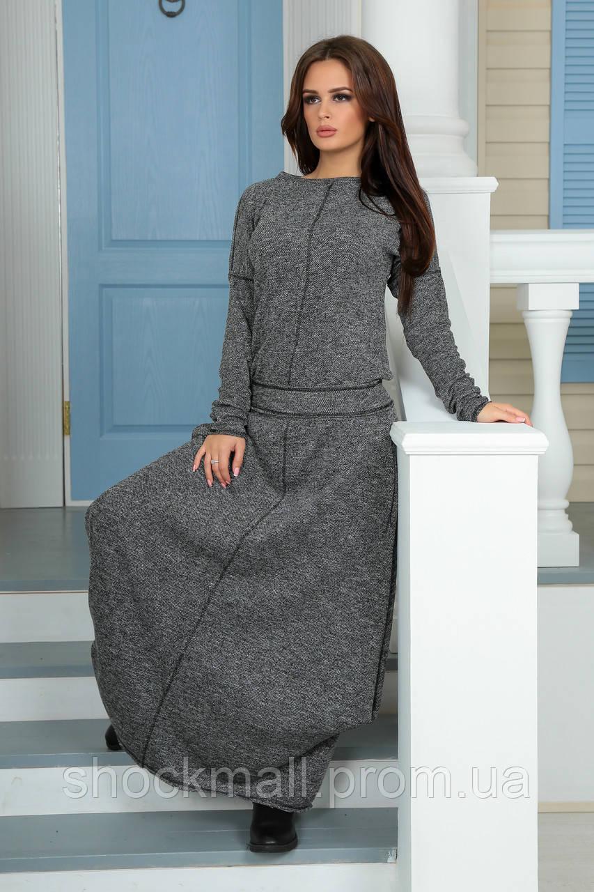 4602f2473b5 Платье длинное в пол теплое - Интернет магазин ShockMall в Киеве