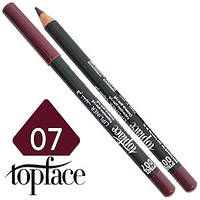 TopFace - Карандаш для губ дерево PT-602 Тон №07 black pepper, матовый