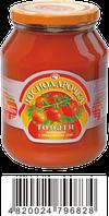 Томаты неочищенные в томатном соке Господарочка 900 г 910122