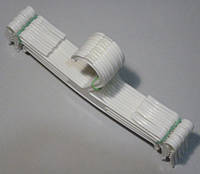 Плечики вешалки тремпеля WBO-1PPU белого цвета,  длина 25 см
