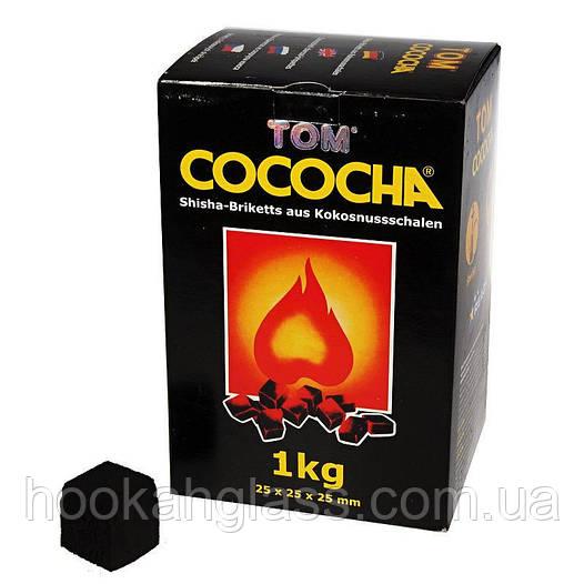 Кокосовый уголь Tom Cococha Yellow 1кг (72 шт), большой кубик