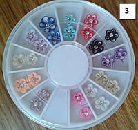 Набор 3D фимо для оформления ногтей ЦВЕТЫ микс 24 шт.