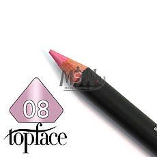 TopFace - Карандаш для губ дерево PT-602 Тон №08 tender pink, перламутр, фото 2