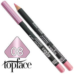 TopFace - Карандаш для губ дерево PT-602 Тон №08 tender pink, перламутр