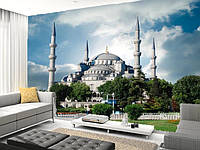 """Фотообои """"Голубая мечеть"""", текстура песок, штукатурка"""