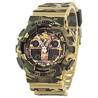 Спортивные наручные часы Casio G-Shock GA-100CM-5AER в маскировочной расскраске - AAA копия, полный комплект, фото 1