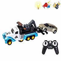 Игрушки на радиоуправлении. Детский эвакуатор 2028-59B.  Игровые машинки на р/у. Машинка эвакуатор.