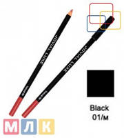 Jovial Luxe Карандаш для губ и глаз деревянный ML-185 №01 black, 1,8 г