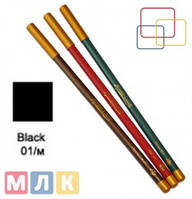 Jovial Luxe Карандаш для губ и глаз деревянный ML-180 №01 black, 1,8 г