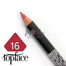 TopFace - Карандаш для губ дерево PT-602 Тон №16 pink berry, матовый, фото 2