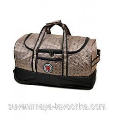Дорожная Сумка на колесах текстиль Big 660-1 beige, сумка качественная, модная