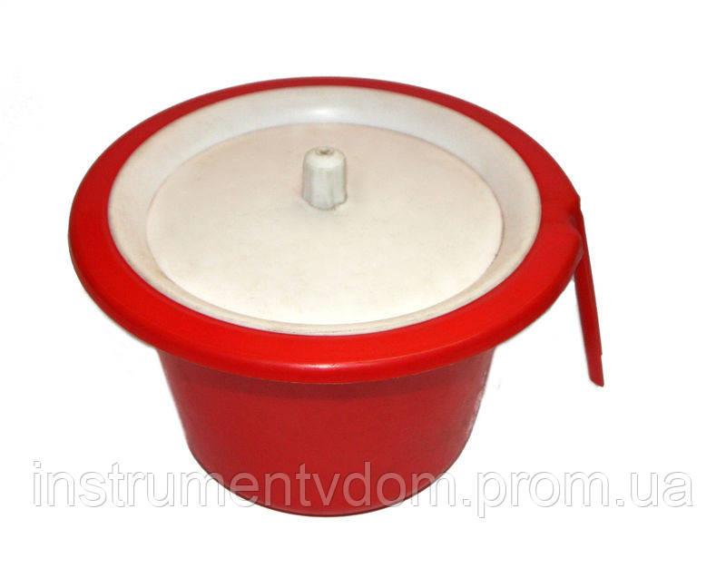 Горшок детский пластиковый с крышкой, 220 мм (набор 10 шт)