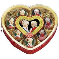 Конфеты REBER шоколадные «МОЦАРТ» коробка в форме сердца  160г.