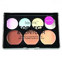 "Палетка для лица ""Корректор и Консилер"" Technic Cream 7 Colour Correct & Contour Palette, фото 1"