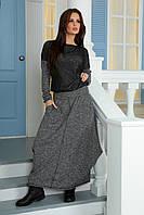 Костюм трикотажный свитшот и юбка