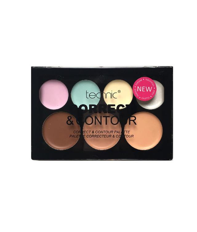 "Палетка для лица ""Корректор и Консилер"" Technic Cream  7 Colour Correct & Contour Palette"