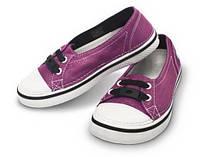 Кеды для маленькой девочки полукеды балетки Кроксы текстильные / Crocs Girls' Hover Skimmer Metallic, фото 1