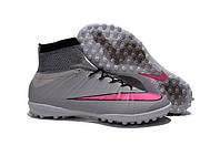 Сороконожки Nike MercurialX Proximo Street TF grey-pink, фото 1