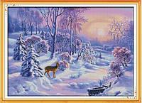 Зимний лес Набор для вышивки крестом