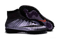 Бутсы сороконожки Nike MercurialX Proximo Street TF хром, фото 1