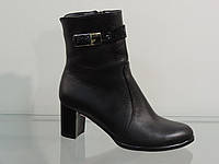 Ботиночки женские на не большем каблуке черный, фото 1