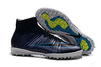 Сороконожки Nike MercurialX Proximo Street TF green black