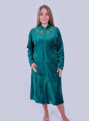 Велюровый халат с медальонами, фото 2