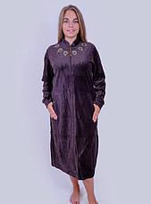 Велюровый халат с медальонами, фото 3