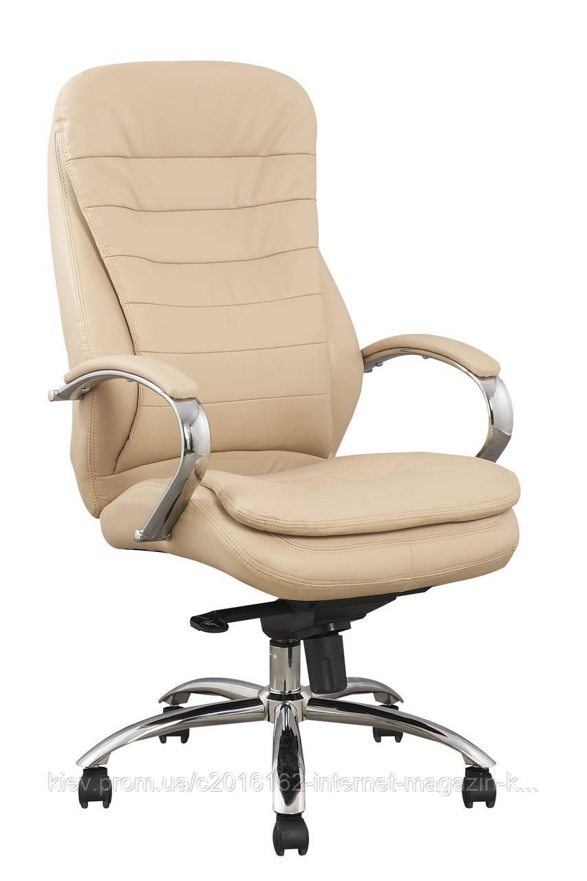 Кресло офисное бежевое кожанное для руководителя MURANO